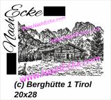 Stickdatei Berghütte 1 Tirol / Österreich 20x28 Scrib-Art