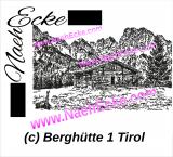 Stickdatei Berghütte 1 Tirol / Österreich 20x30 Scrib-Art