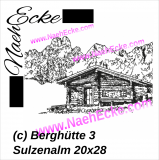 Stickdatei Berghütte 3 Sulzenalm Scrib-Art 20x30 / 20x28