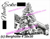 Stickdatei Berghütte 4 im Schnee Scrib-Art 18x30