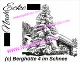 Stickdatei Berghütte 4 im Schnee Scrib-Art 20x30 / 20x28 / 20x20