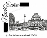 Embroidery Berlin Museumsinsel 11.02 x 7.87