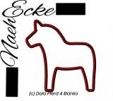 Stickdatei Dala Pferd 4 Blanko 10x10