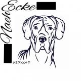 Stickdatei Dogge Nr.2 10x10