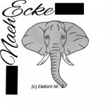 Stickdatei Elefant Nr.3 10x10