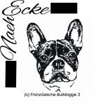 Stickdatei Französische Bulldogge 3 13x18