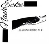Stickdatei Pfote und Hand Nr 2 13x18