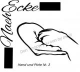Stickdatei Pfote und Hand Nr 3 10x10