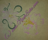 Stickdatei Lilie 2 Doodle 10x10