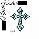 Stickdatei Kreuz Nr. 2 10x10