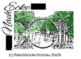 Stickdatei Brücke Rakotzbrücke Kromlau 20x28