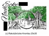 Stickdatei Brücke Rakotzbrücke Kromlau 20x30