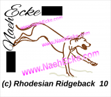 Stickdatei Rhodesian Ridgeback Nr. 10 15x25