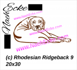 Stickdatei Rhodesian Ridgeback Nr. 9 15x25