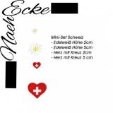 Stickdatei Mini Set Schweiz 10x10