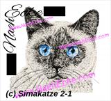 Stickdatei Siamkatze 2-1 13x18 Photostitch