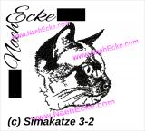 Stickdatei Siamkatze 3-2 13x18
