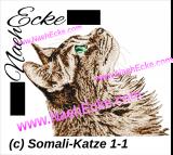 Stickdatei Somali-Katze 1-1 13x18 Photostitch