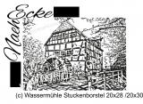 Stickdatei Wassermühle Stuckenborstel 20x28 / 20x30 Scrib-Art