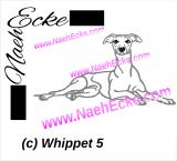 Stickdatei Whippet Nr. 5 13x18