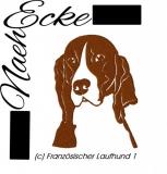 Stickdatei Französischer Laufhund 1 10x10