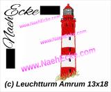 Stickdatei Leuchtturm Amrum 13x18